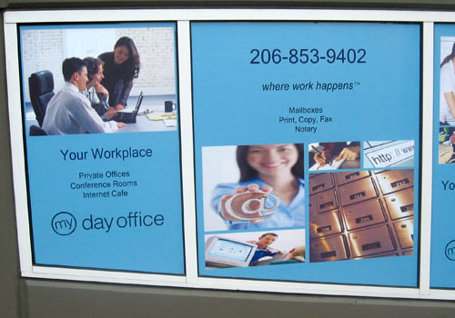 Window Graphics Signs Of Seattle - Custom vinyl stickers large   the advantages