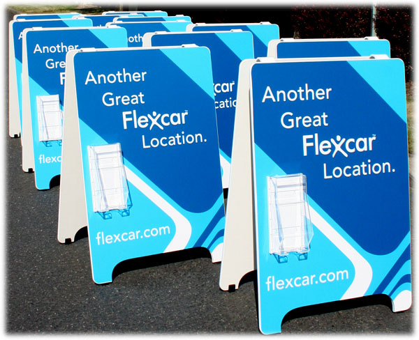 Sandwich Boards with Lit Holder