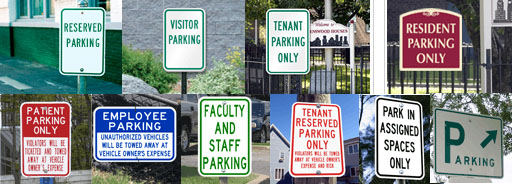 Metal Parking Signs