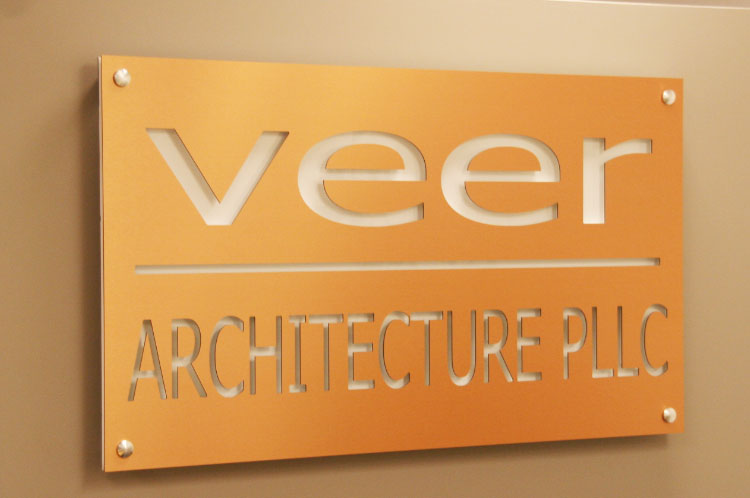 Office Signs Brushed Metal Signs Of Seattle