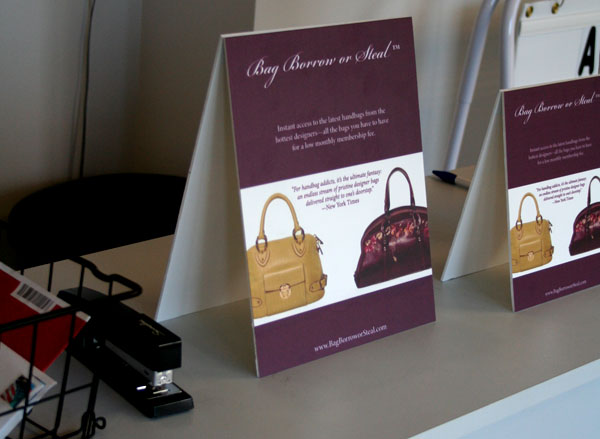 Table Tent Display Signs Of Seattle