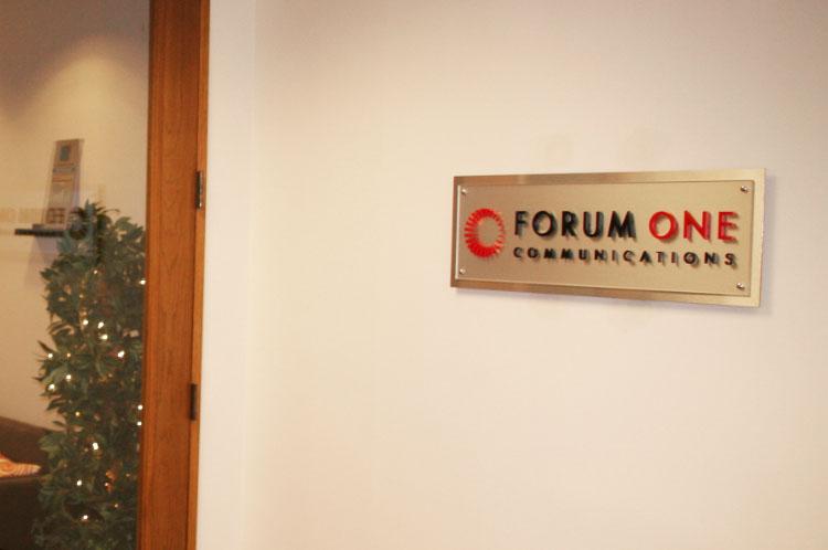 Burshed Metal Office Sign
