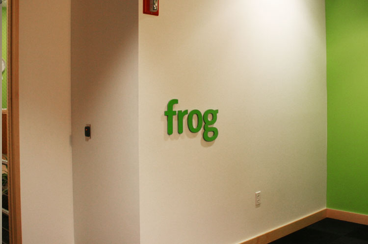 Reception Area Sign