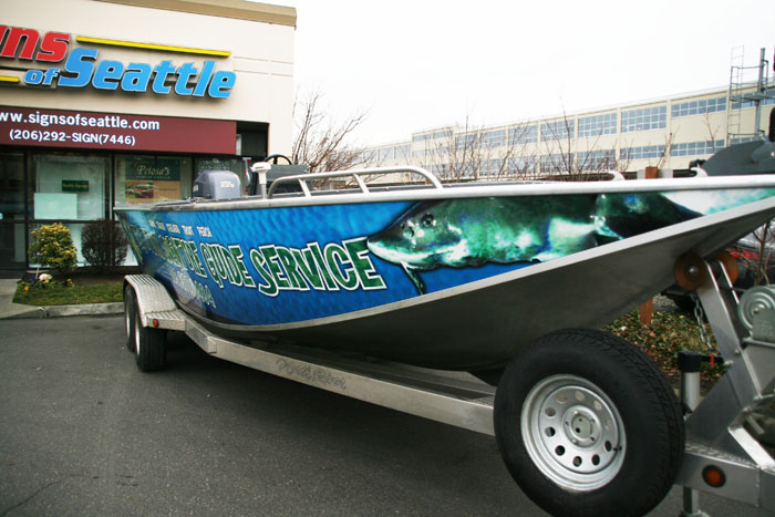 custom boat lettering boat wrap signs of seattle 21270