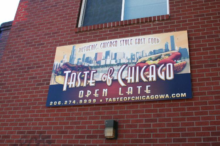 Metal Restaurant Sign