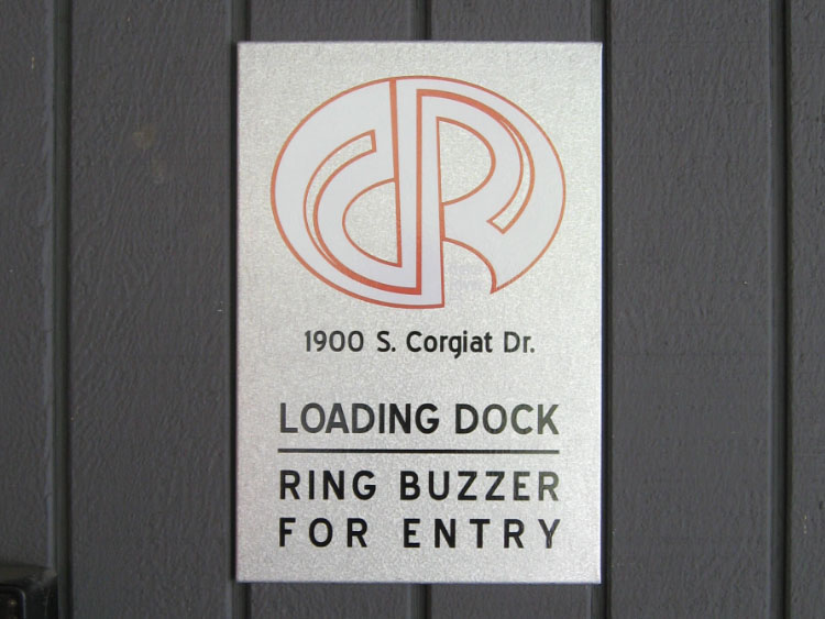 Metal Business Sign