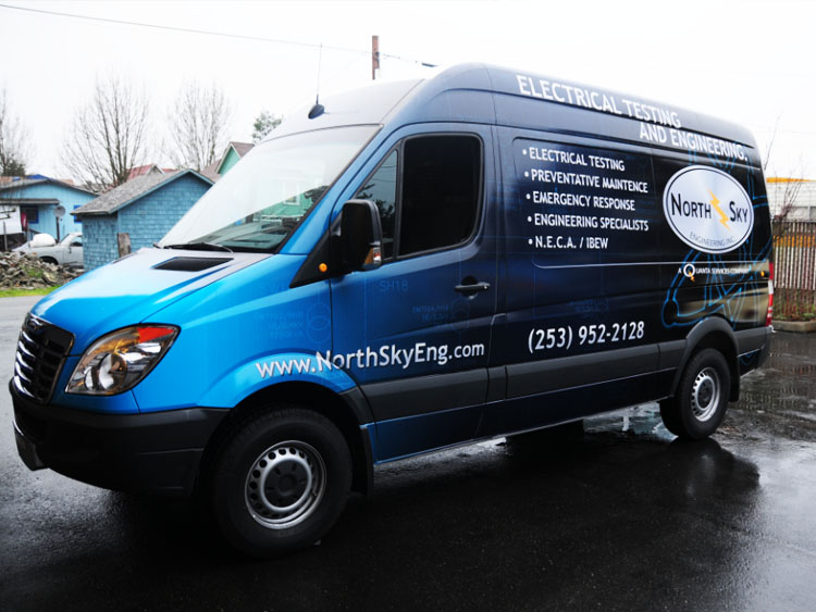 Cargo Van Wraps Graphics From Simple Lettering To Full Wraps