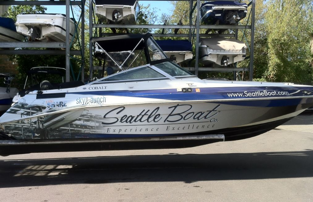 Boat Vinyl Wrap And Graphics From Signs Of Seattle