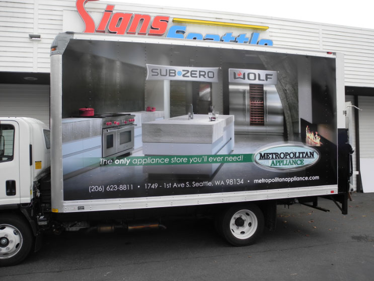 Box Truck Wraps from Full Vinyl Wraps to Lettering