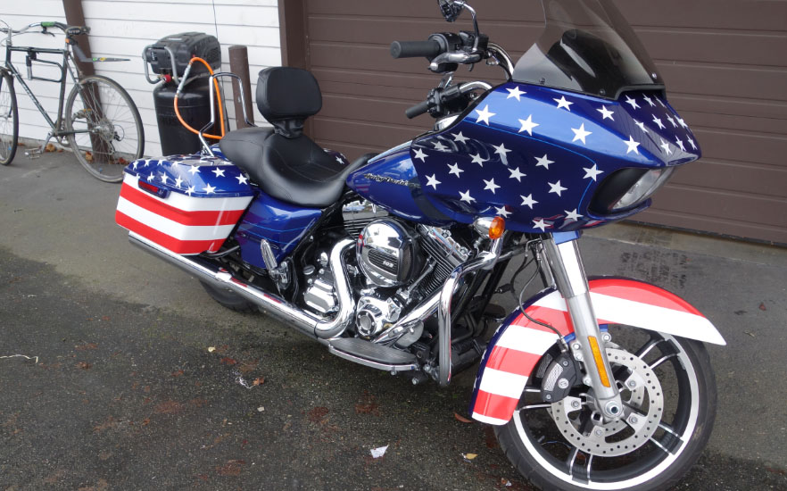 Motorcycle Wrap Signs Of Seattle - Vinyl graphics for motorcycles