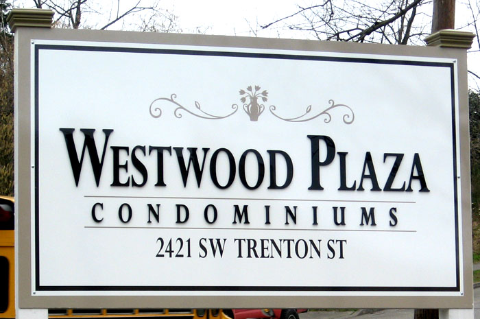 Outdoor Marquee MDO Apartment Sign