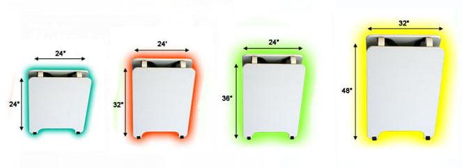 Custom A-Board sizes