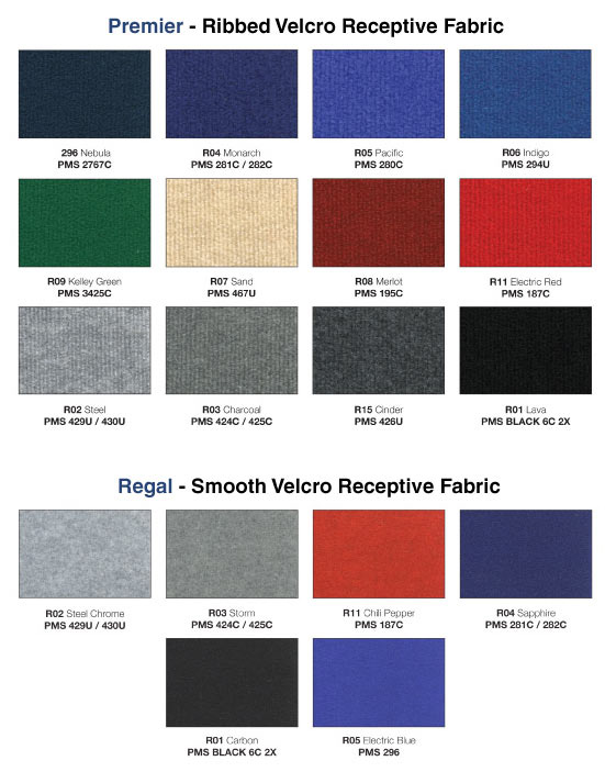 Available Fabric Styles for Background