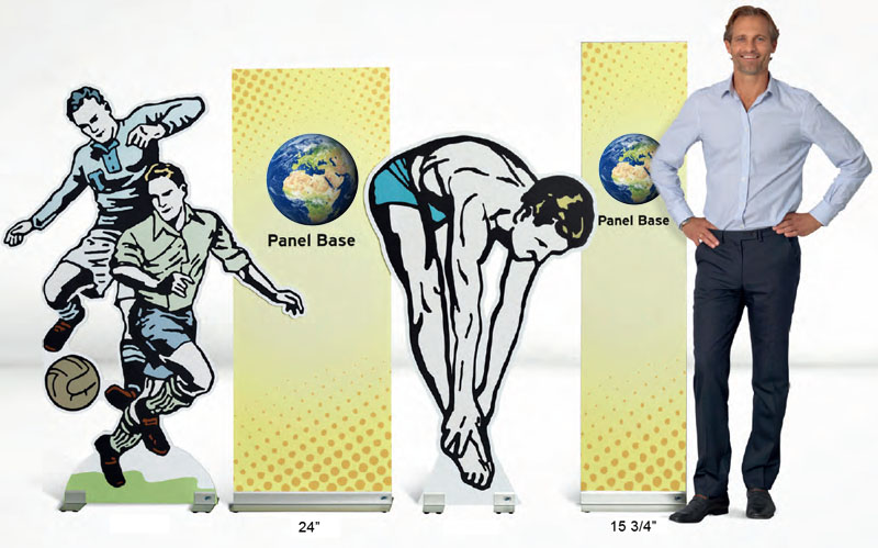 Flat Base Rigid Stand Up Banner