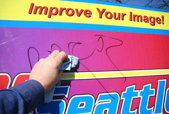 Graffiti Resistant Sign