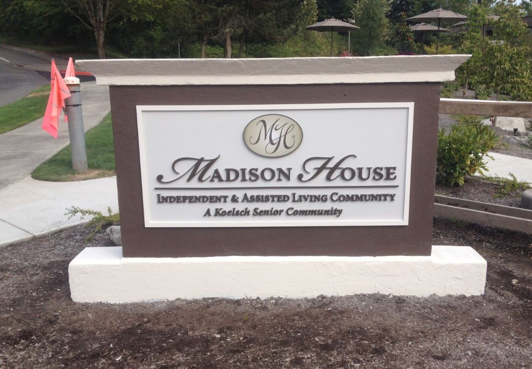Routed HDU Sign with Acrylic Letters