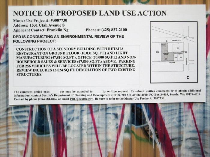 Seattle Public Notice Sign