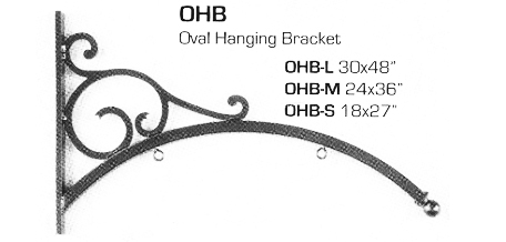Oval Hanging Bracket