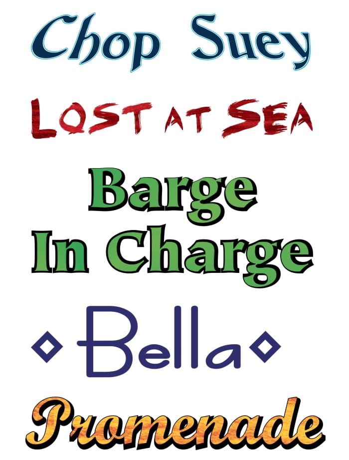 Boat Lettering