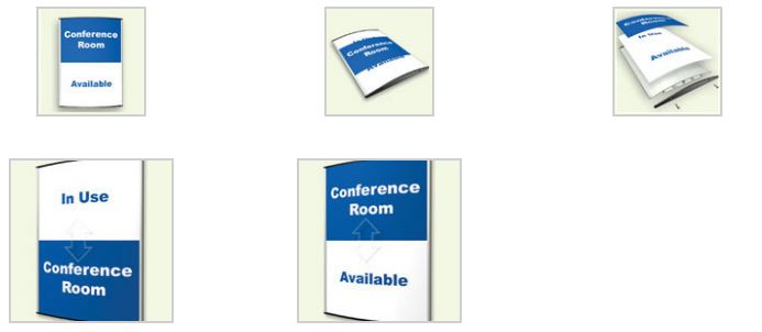 Changing conference rooms Signs