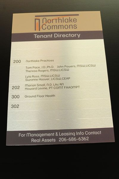 Tenant Directory Sign