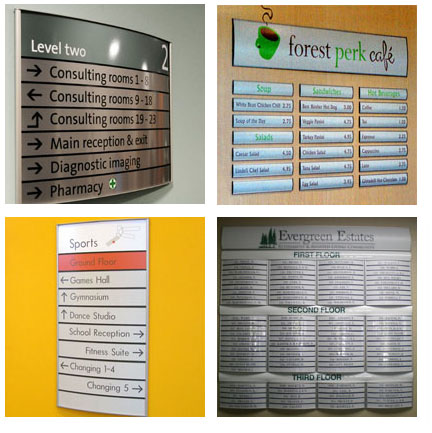Directory and Menu Signs