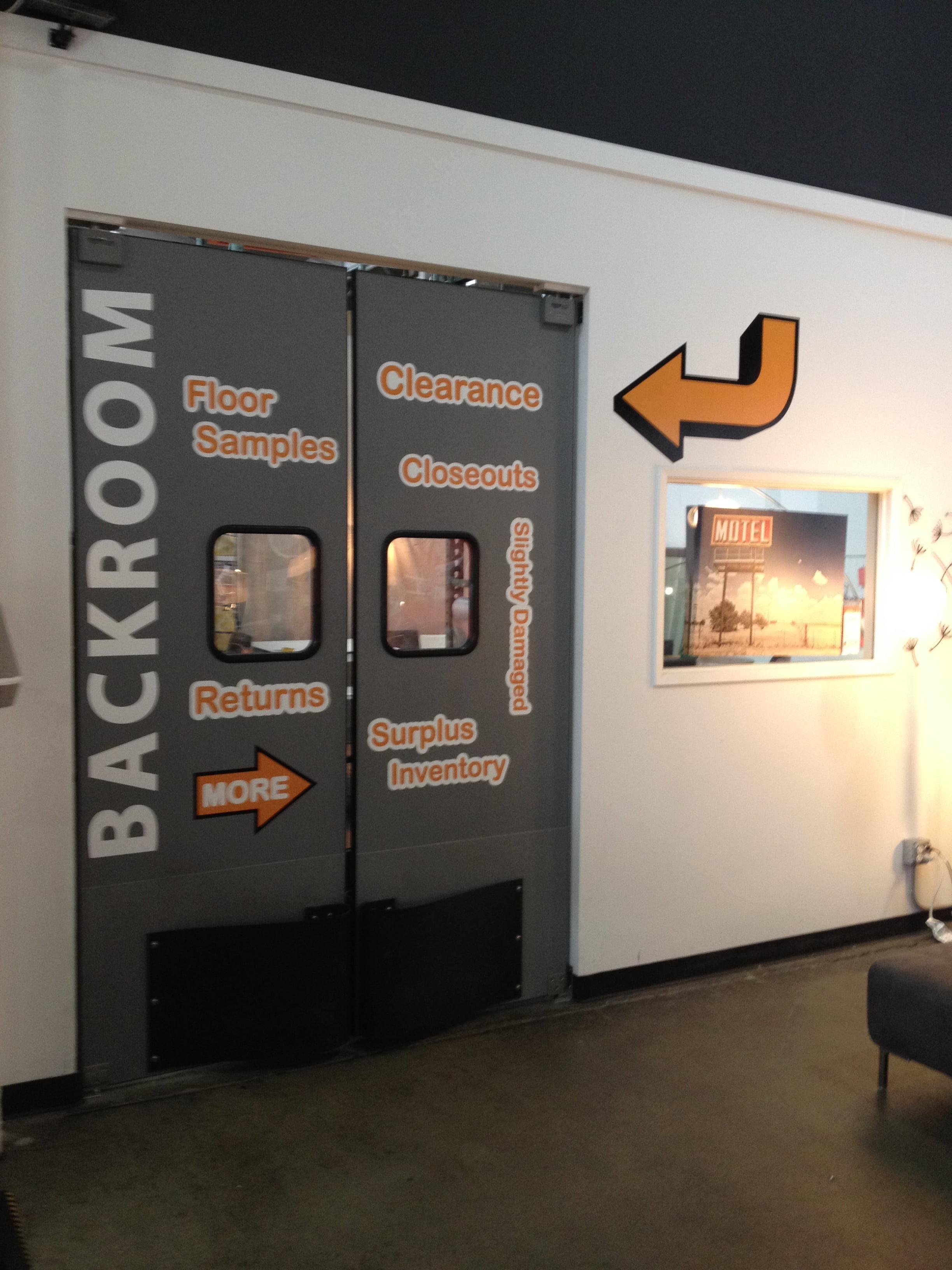 Vinyl Door Sign Graphics