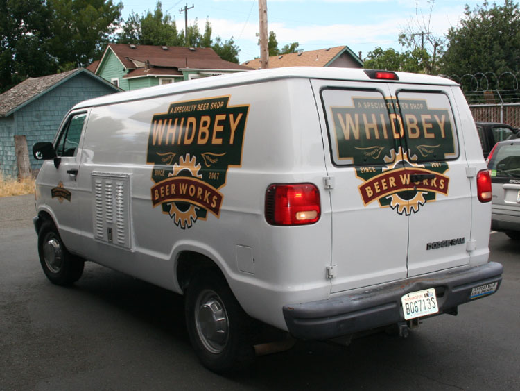 Custom Van Graphics with Rear Window Vinyl Graphics